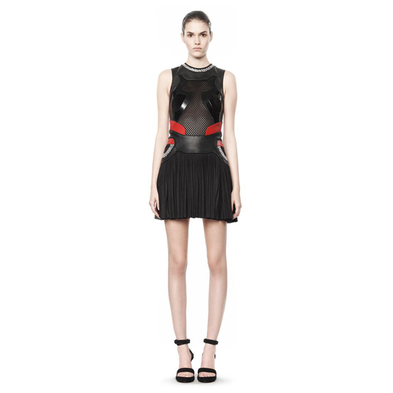 BLACK ALEXANDER WANG PLEATED SNEAKER DRESS Outlet Online