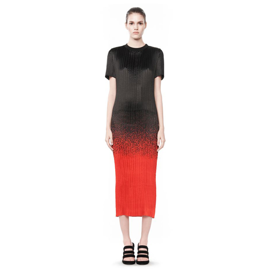RED ALEXANDER WANG MICRO PLEATED T-SHIRT DRESS Outlet Online