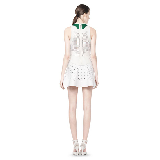 WHITE ALEXANDER WANG SNEAKER LACE-UP DRESS Outlet Online