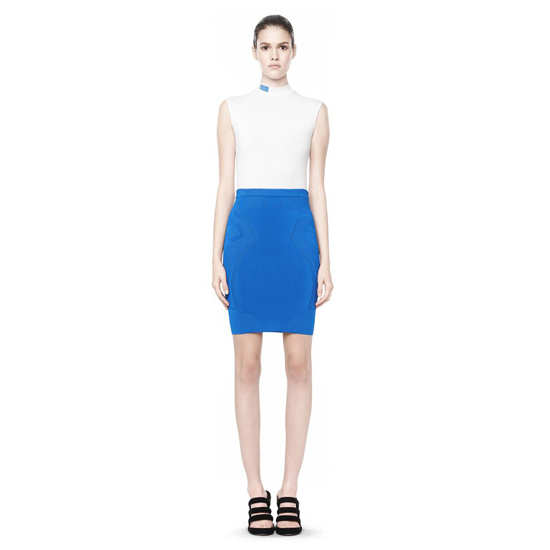 WHITE ALEXANDER WANG ATHLETIC MOCK NECK TANK Outlet Online