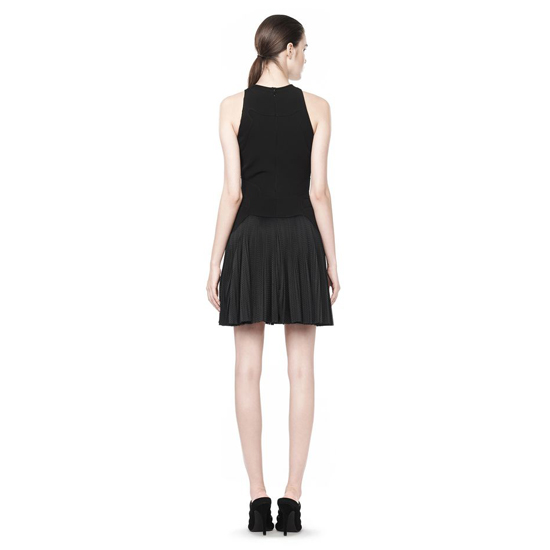 BLACK ALEXANDER WANG PLEATED DRESS WITH SNEAKER DETAIL Outlet Online