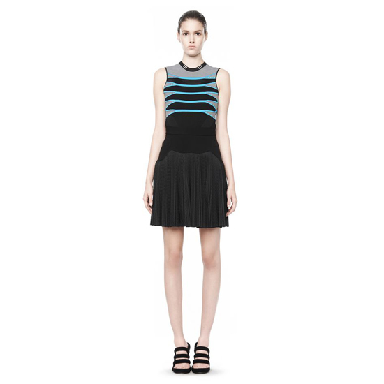 BLACK ALEXANDER WANG PLEATED SKIRT WITH SNEAKER DETAIL Outlet Online