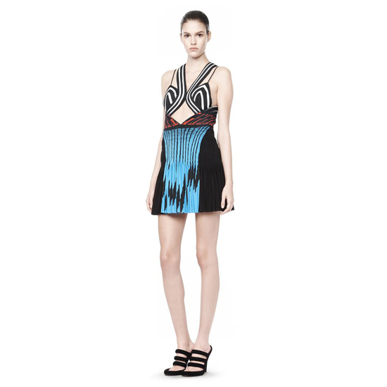 MULTICOLOR ALEXANDER WANG PLEATED CAMISOLE DRESS Outlet Online