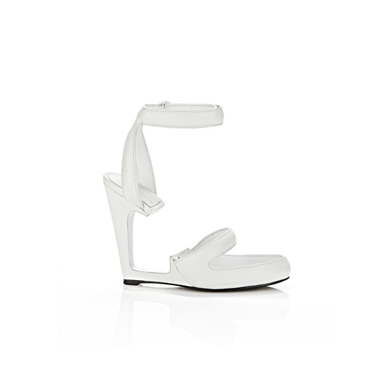 WHITE ALEXANDER WANG CELIA LEATHER SANDAL Outlet Online