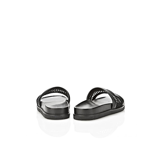 BLACK ALEXANDER WANG JAC MESH AND LEATHER SANDAL Outlet Online