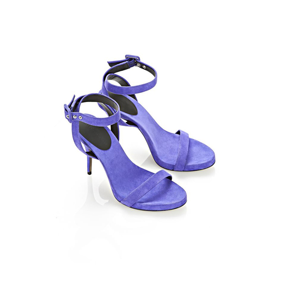 PURPLE ALEXANDER WANG JULIANA SUEDE SANDAL Outlet Online