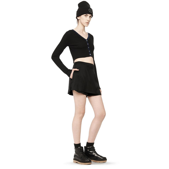 BLACK ALEXANDER WANG SILK MINI SKORT Outlet Online