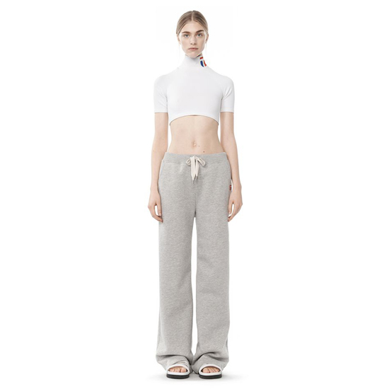 LIGHT GRAY ALEXANDER WANG BONDED FLEECE SWEATPANTS Outlet Online