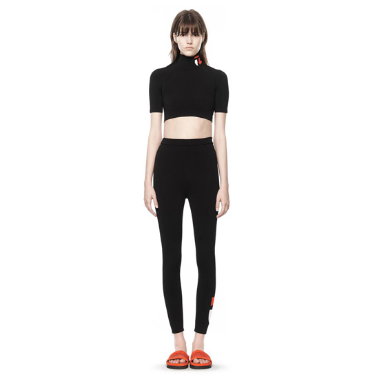 BLACK ALEXANDER WANG KNIT LOGO LEGGING Outlet Online