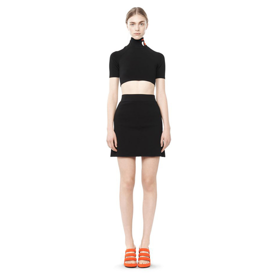 BLACK ALEXANDER WANG A-LINE MINI SKIRT Outlet Online