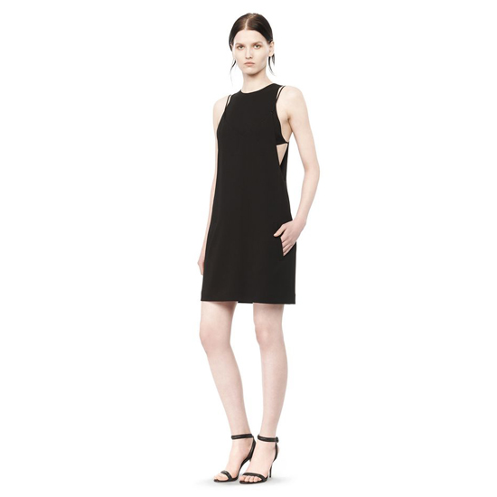 BLACK ALEXANDER WANG EXPOSED LAYER CAMISOLE DRESS Outlet Online