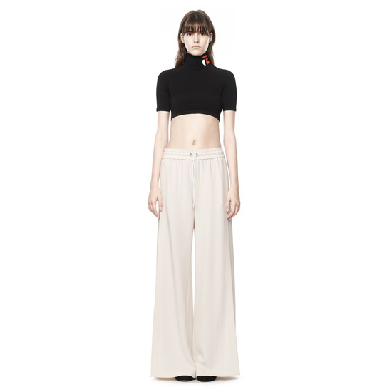 IVORY ALEXANDER WANG DRAPE SUITING SIDE SLIT PANT Outlet Online