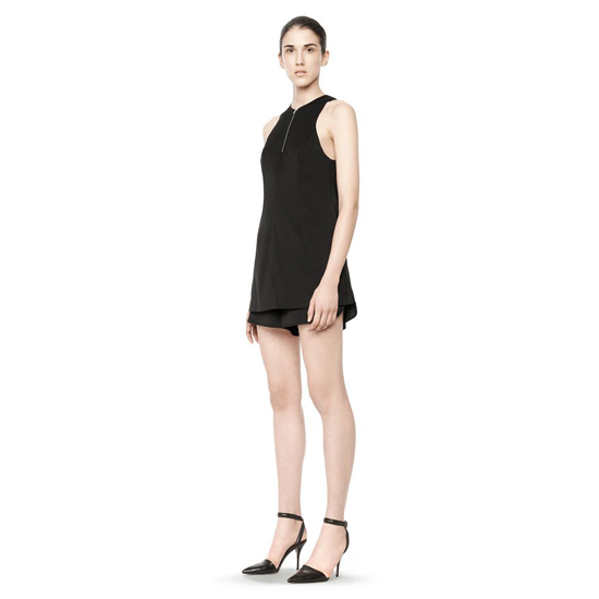 BLACK ALEXANDER WANG SILK ROMPER Outlet Online