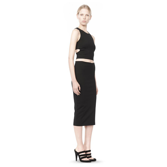 BLACK ALEXANDER WANG MIDI PENCIL SKIRT Outlet Online