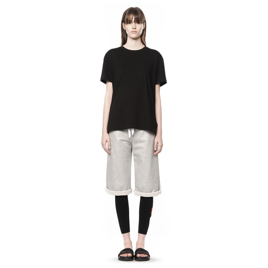 BLACK ALEXANDER WANG WELDED COTTON TEE WITH CHEST POCKET Outlet Online