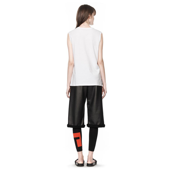 WHITE ALEXANDER WANG COTTON JERSEY WELDED MUSCLE TEE Outlet Online