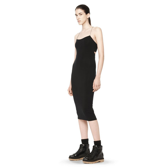 BLACK ALEXANDER WANG CUTOUT MODAL CAMI DRESS Outlet Online