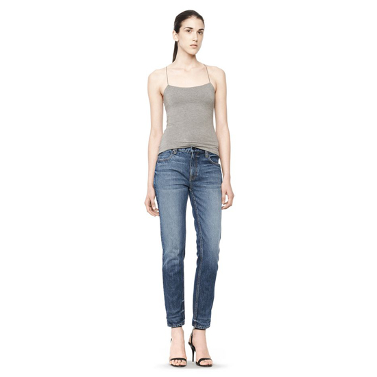 GRAY ALEXANDER WANG CUTOUT MODAL CAMI TOP Outlet Online