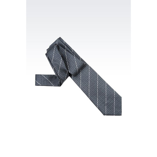 ARMANI SILK TIE WITH LOGO PATTERN Outlet Online