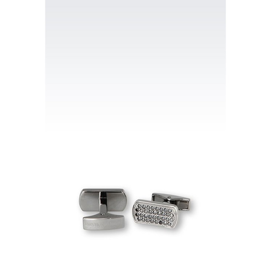 ARMANI CUFF LINKS IN SILVER AND CZ STONES Outlet Online