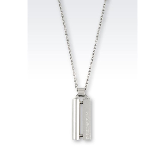 ARMANI STEEL NECKLACE Outlet Online