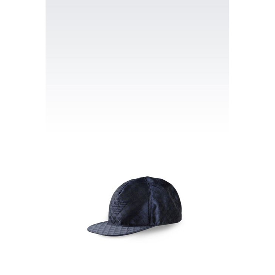 ARMANI BASEBALL CAP IN LOGOED FABRIC Outlet Online