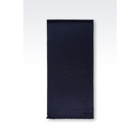 ARMANI SCARF IN LOGO PATTERNED WOOL Outlet Online