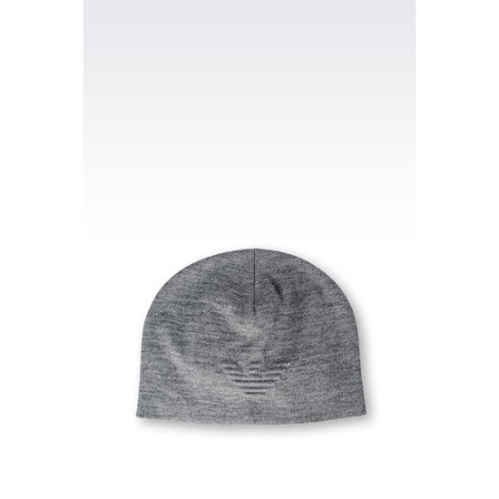 ARMANI WOOL BLEND HAT WITH LOGO Outlet Online
