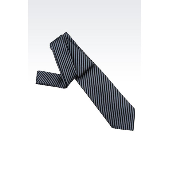 ARMANI STRIPED SILK TIE Outlet Online