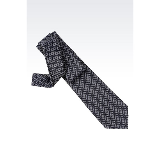 ARMANI TIE IN MICRO PATTERNED SILK Outlet Online