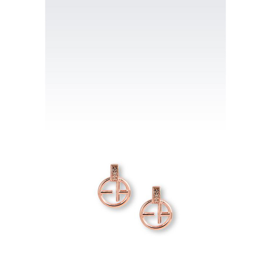 ARMANI EARRINGS IN ROSE GOLD-PLATED SILVER Outlet Online