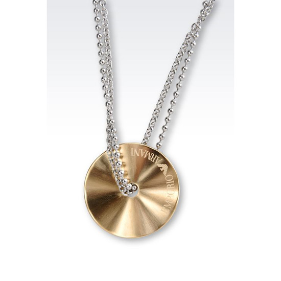 ARMANI NECKLACE IN GOLD-PLATED STEEL Outlet Online