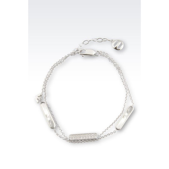 ARMANI BRACELET IN SILVER AND MOTHER-OF-PEARL Outlet Online