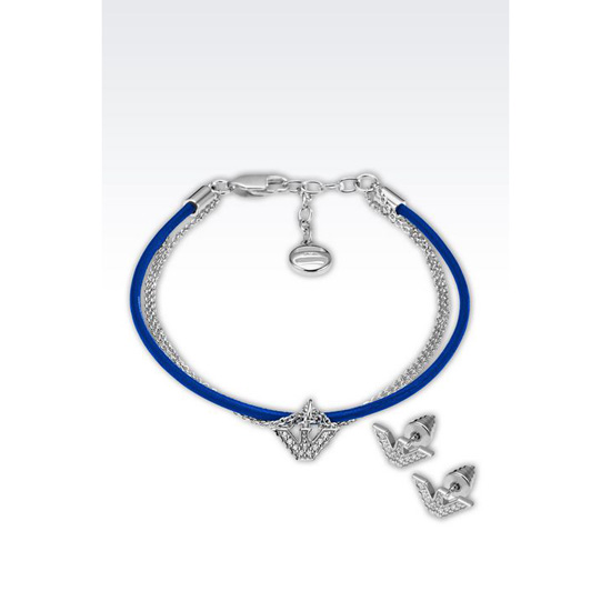 ARMANI BRACELET AND EARRINGS IN SILVER Outlet Online