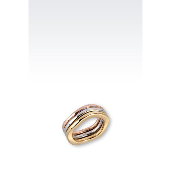 ARMANI RING IN GOLD-PLATED STEEL Outlet Online
