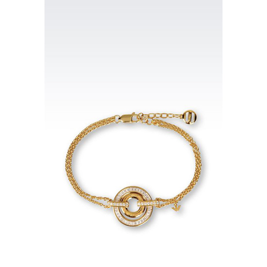 ARMANI BRACELET IN GOLD-PLATED SILVER AND CZ STONES Outlet Online