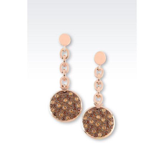 ARMANI DROP EARRINGS IN GOLD-PLATED STEEL AND TOPAZ Outlet Online