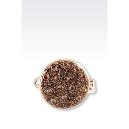 ARMANI RING IN GOLD-PLATED STEEL AND TOPAZ Outlet Online