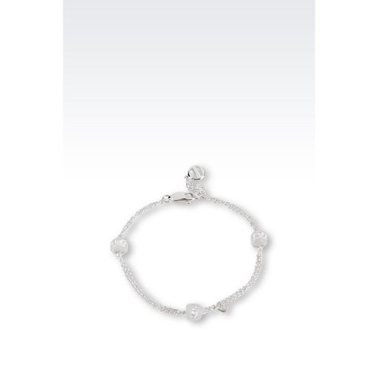 ARMANI BRACELET IN RHODIUM-PLATED SILVER AND CZ STONES Outlet Online