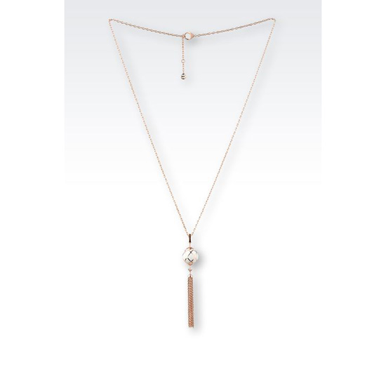 ARMANI NECKLACE IN STEEL AND RESIN Outlet Online