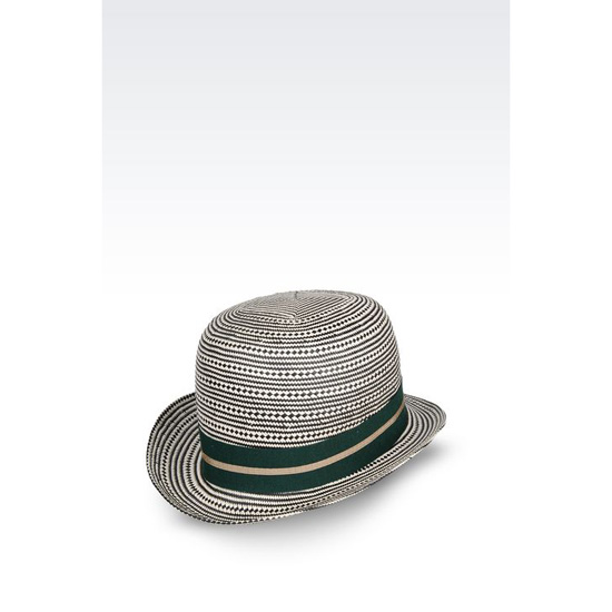 ARMANI TWO-COLOUR NARROW-BRIMMED HAT Outlet Online