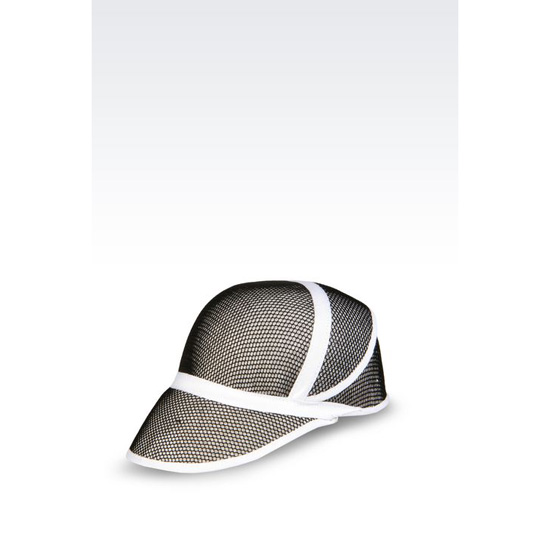 ARMANI BASEBALL CAP IN MESH EFFECT STRAW Outlet Online