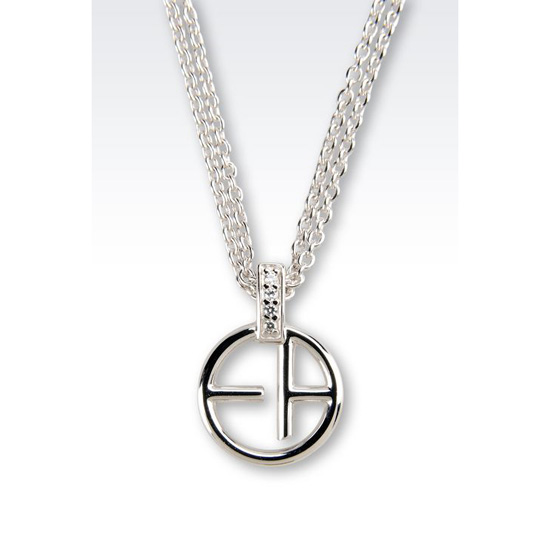 ARMANI NECKLACE IN STERLING SILVER Outlet Online