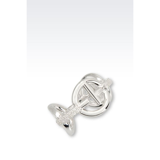ARMANI RING IN STERLING SILVER Outlet Online