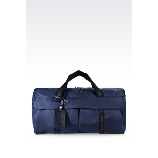 ARMANI HOLDALL IN TECHNICAL FABRIC Outlet Online