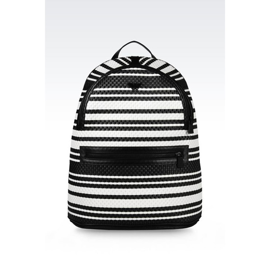 ARMANI RUNWAY BACKPACK WITH TWO-TONE STRIPES Outlet Online