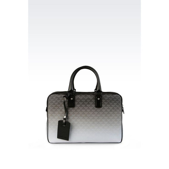 ARMANI BRIEFCASE IN LOGOED PVC Outlet Online