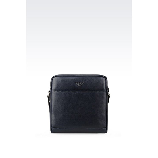 ARMANI SHOULDER BAG IN SAFFIANO CALFSKIN Outlet Online
