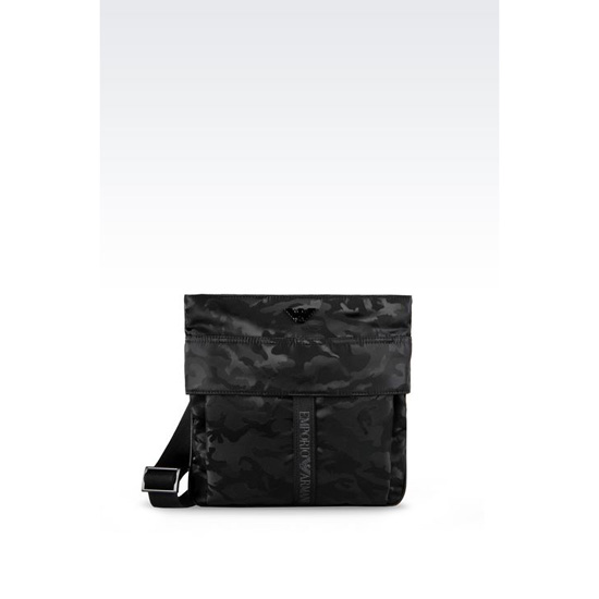 ARMANI FLAT MESSENGER BAG IN CAMOUFLAGE TECHNICAL FABRIC Outlet Online