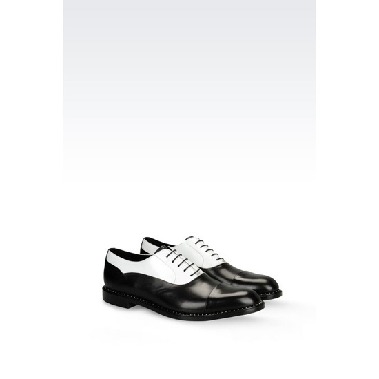 ARMANI BROGUE IN TWO-COLOUR CALFSKIN Outlet Online